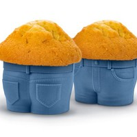 Fred and Friends MUFFIN TOPS Baking Cups, Blue, Set of 4