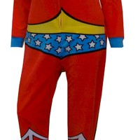 DC Comics Wonder Woman Fleece Onesuit Footie Pajama