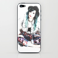 demi lovato nylon shoot iPhone & iPod Skin by swiftstore