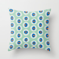 Evil Eye Charm - Hemlock Throw Pillow by alterEGO