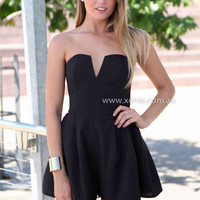 MY EVERYTHING PLAYSUIT , DRESSES, TOPS, BOTTOMS, JACKETS & JUMPERS, ACCESSORIES, 50% OFF SALE, PRE ORDER, NEW ARRIVALS, PLAYSUIT, COLOUR, GIFT VOUCHER,,BACKLESS,JUMPSUIT,STRAPLESS,Black,MINI Australia, Queensland, Brisbane