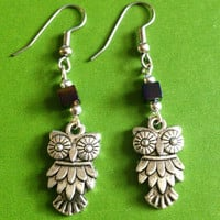 Owl Earrings - Bohemian - Baby Owl - Boho Earrings