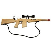 M-16 Rubberband Rifle with Strap and Scope