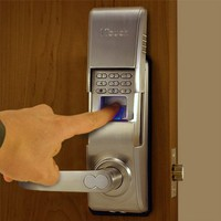 1TOUCH IQ2 - Biometric Fingerprint Door Lock - Right Handed - High Capacity - Brushed Nickel