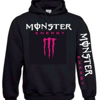 Monster Energy Hoodie (Pink) -Black - Small [Apparel]:Amazon.co.uk:Clothing