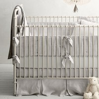 Washed Organic Linen Nursery Bedding Collection