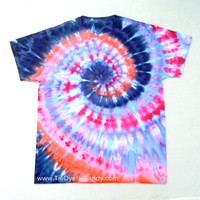 Large Tie Dye Shirt Snow Dye Spiral