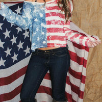 ALL AMERICAN GIRL LONG SLEEVE TOP