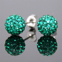 Super flash 10 mm stud earrings ABBEBF