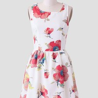 Tranquil Rhythm Floral Dress