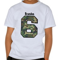 6th Birthday Boy Camo Four Year Custom Name V007F