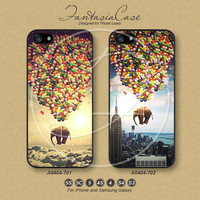 iPhone 5 case, iPhone 5C Case, iPhone 5S case, Elephant, Helium balloons, iPhone 4S Case, Samsung Galaxy S3, Samsung Galaxy S4, FA0404