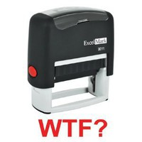 Amazon.com: WTF Red Stock Self-Inking Rubber Stamp - Model 9011: Office Products