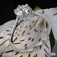 "18k White Gold Vatche ""Felicity"" Solitaire Engagement Ring"