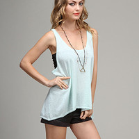 Mint Danica Sweater Tank Top