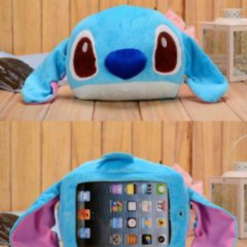 Authentic iPlush Plush Toy Case (iPad Mini, Blue Stitch)
