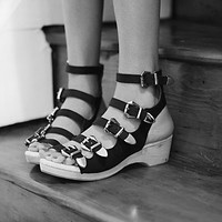 Jeffrey Campbell + Free People Womens Silver Lining Clog -