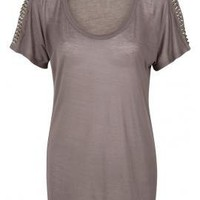 Studded Arm T-Shirt
