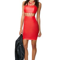 Nicole Faux Leather Dress