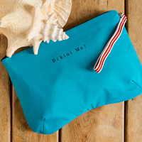 Bikini Bag, water resistant in turqouise