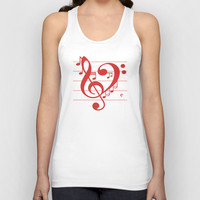 Love Music ~ Valentines Edition ~ Unisex Tank Top by RichCaspian