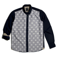 11 After 11 Dot & Skull Navy Stripe Shirt