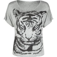 Amazon.com: FULL TILT Tiger Womens Boxy Tee: Clothing