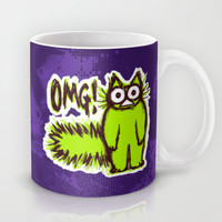 OMG CAT Mug by Nekome Andon
