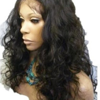 Tanya Full Lace Wig Curly Wig 100% Indian Remy Human Hair Wigs #1B Natural Black Free Shipping
