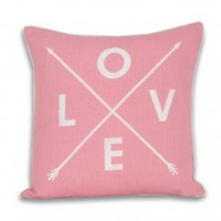 Love Arrow Pillow - Cotton Candy Pink