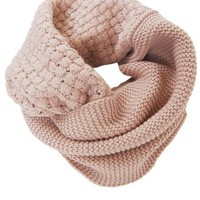 Humble Chic Waffle Knit Circle Scarf - Cold Weather Infinity Black,Grey,Taupe