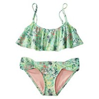 Xhilaration® Junior's Hanky 2-Piece Swimsuit -Floral Print