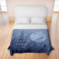 *** LOVE YOU TO THE MOON AND BACK *** Romantic Bedding from DiaNoche Designs & Monika Strigel for a romantic feeling !