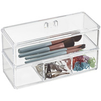 The Container Store > Acrylic Edge Stackable Boxes
