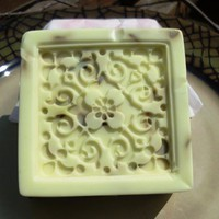 Rose Bliss, Avocado Cucumber Soap, with dried Rose Petals | blackwillowsoap - Bath & Beauty on ArtFire