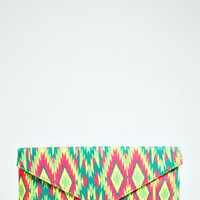 Anya Aztec Print Envelope Clutch Bag