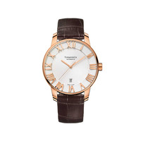 Tiffany & Co. - Atlas® dome watch in 18k rose gold, mechanical movement.
