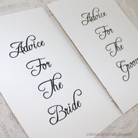 "Wedding Advice for the Bride And Groom Notebooks - Natural Cream Covers - Set of 2 - 8.5"" x 5.5"" Large Size"