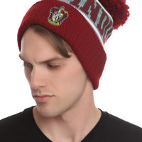 Harry Potter Gryffindor Fold-Over Pom Beanie