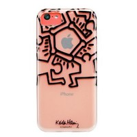 Case Scenario Keith Haring iPhone 5C Case - Circle of People - Carrying Case - Retail Packaging - Clear