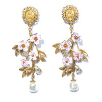 DOLCE & GABBANA Blossom flower and pearl earrings