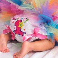 Rainbow Stars Fancy Pants/Diaper Bloomers...Personalized with YOUR ch | Stitcheroos - Children's on ArtFire