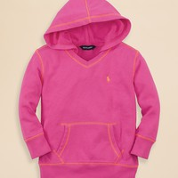 Ralph Lauren Childrenswear Girls' Terry Cloth Hoodie - Sizes 2-6X