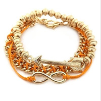 & Other Stories Infinity, Arrow And Threaded Trend Bracelet- Found on Bib + Tuck