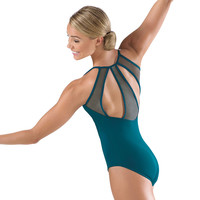 Paneled Mesh Back Camisole Leotard; Balera