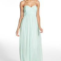 Donna Morgan 'Laura' Ruched Sweetheart Silk Chiffon Gown (Regular & Plus) | Nordstrom