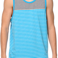 Zine Ice Cold Blue Stripe Tank Top