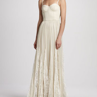 Geneva Bustier Pleated Maxi Dress