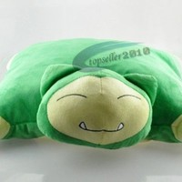 40cm Cute  Soft Pokemon Snorlax Cushion Plush Doll Transforming Pillow