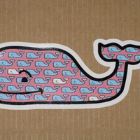 WHALE VINEYARD VINES WHALE WITH WHALES VINYL STICKER DECAL SOUTHERN PROPER